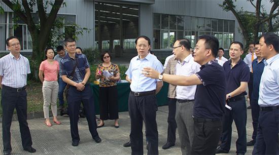 温江区区长一行来永亨温江海峡科技园智造基地参观指导
