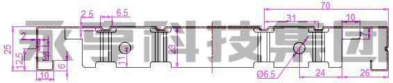 密集架架体挂板示意图